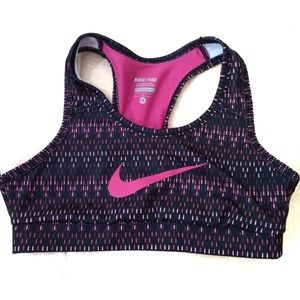 Nike Pro Dri Fit Girls Sports Bra M Gym Athletic